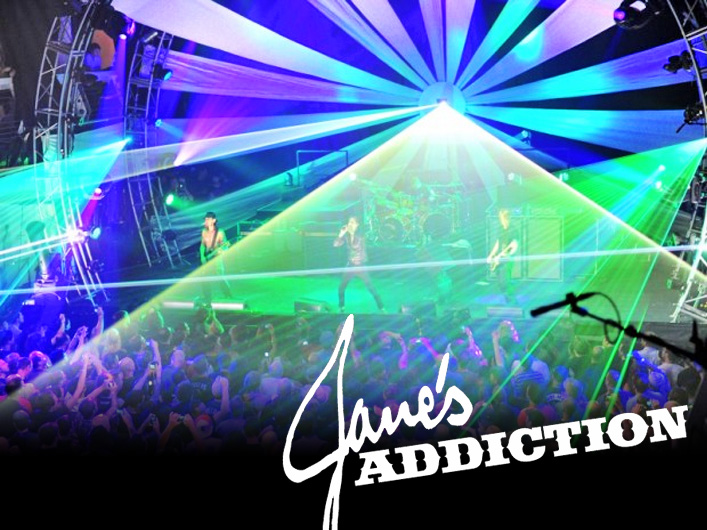 Jane's Addiction adds a custom programmed arsenal of Lightwave lasers and confetti to the 2011 world tour.