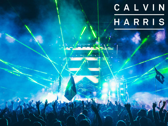 Lightwave International providing laser special effects for Calvin Harris at Austin City Limits